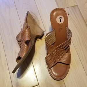 MICHAEL Michael Kors brown leather sandals 7